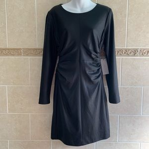 Jennifer Lopez Parisian Chic Black Tie Dress